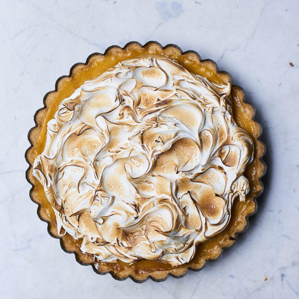 Gizzi Erskine's Lemon sherbet meringue pie