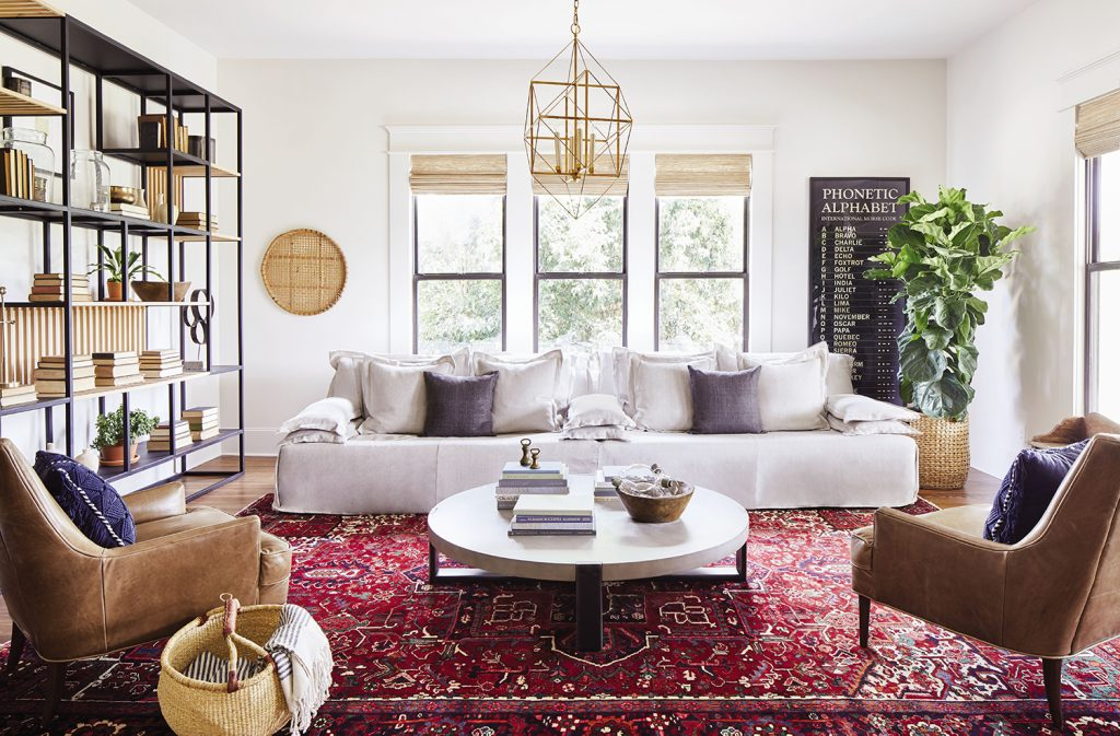 Ramsey living room, designed by Joanna Gaines, taken from Homebody, credit Cody Ulrich