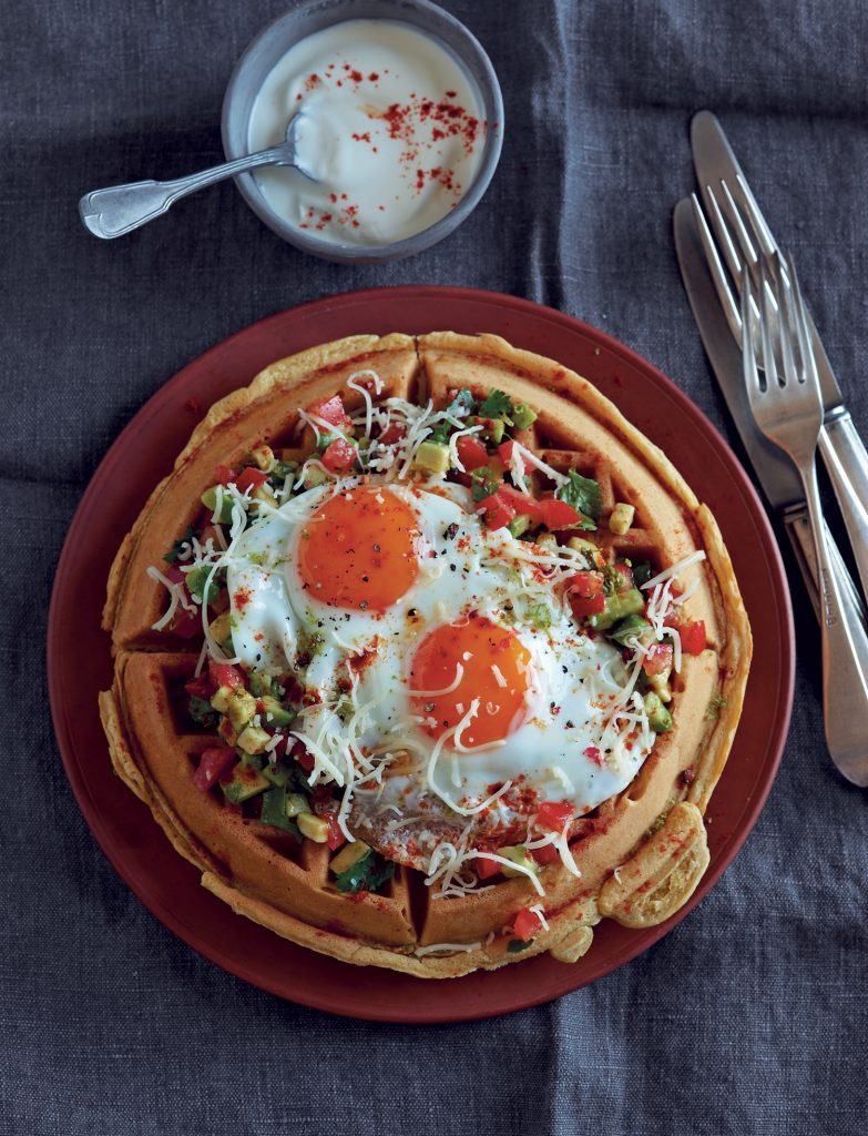 Huevos Rancheros waffles recipe