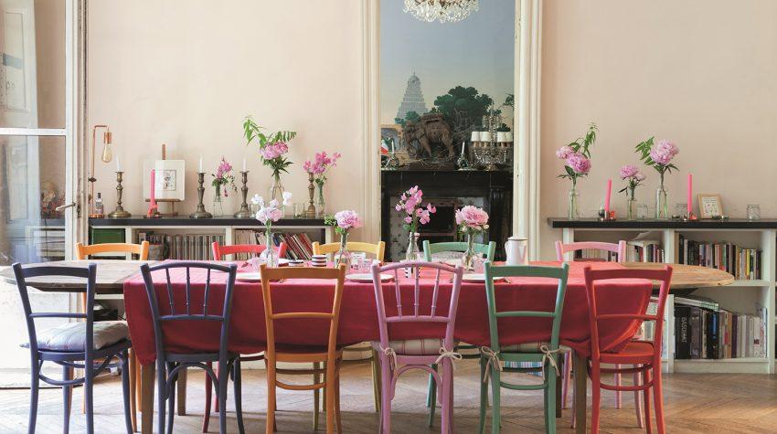 Ines de la Fressange dining table image: Claire Cocano