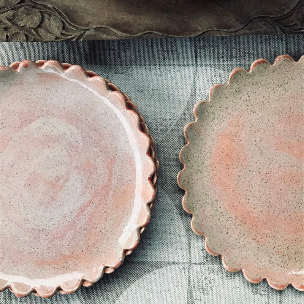 Side plates, £20, KC Hossack Pottery on Etsy