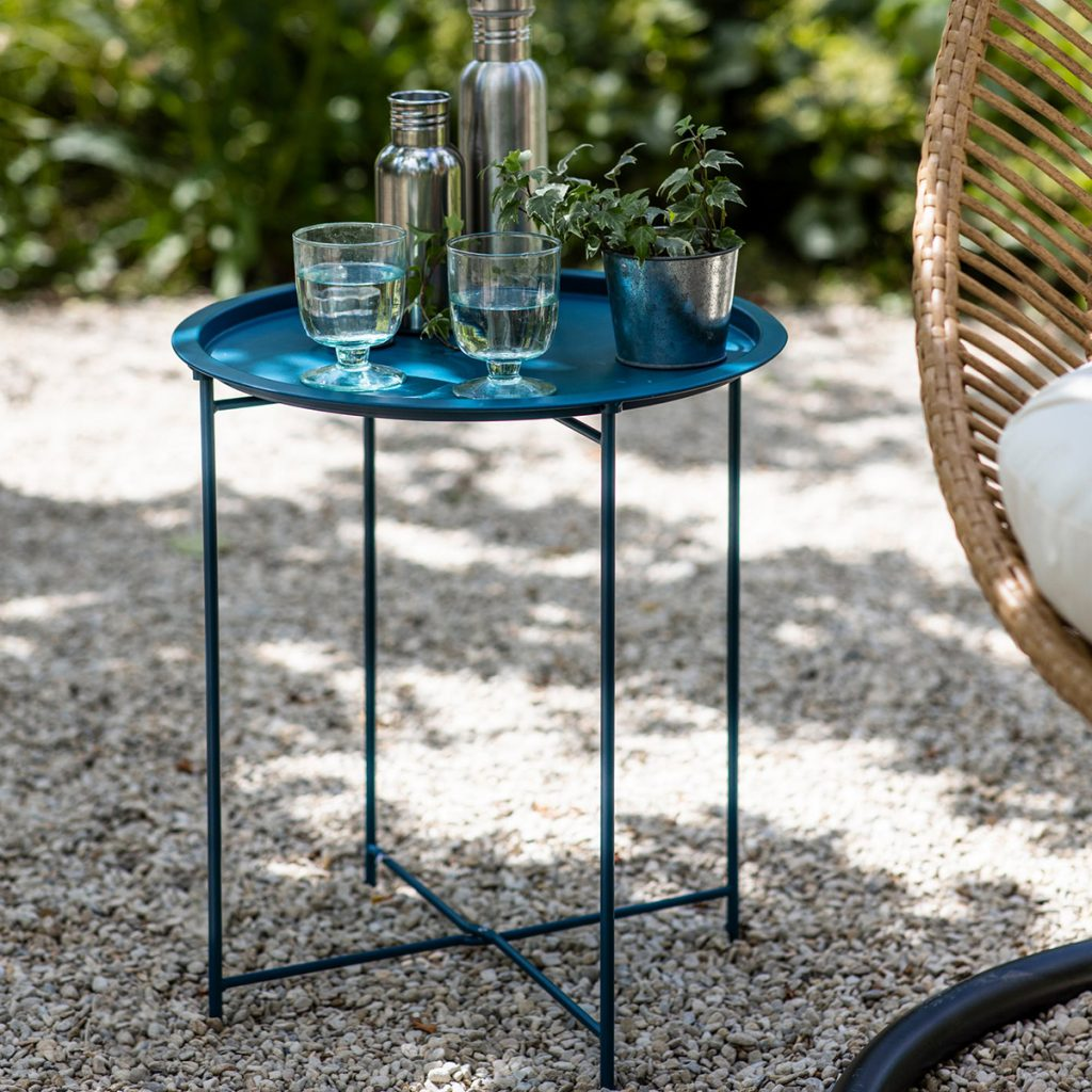 Bistro tray table, £25, Garden Trading