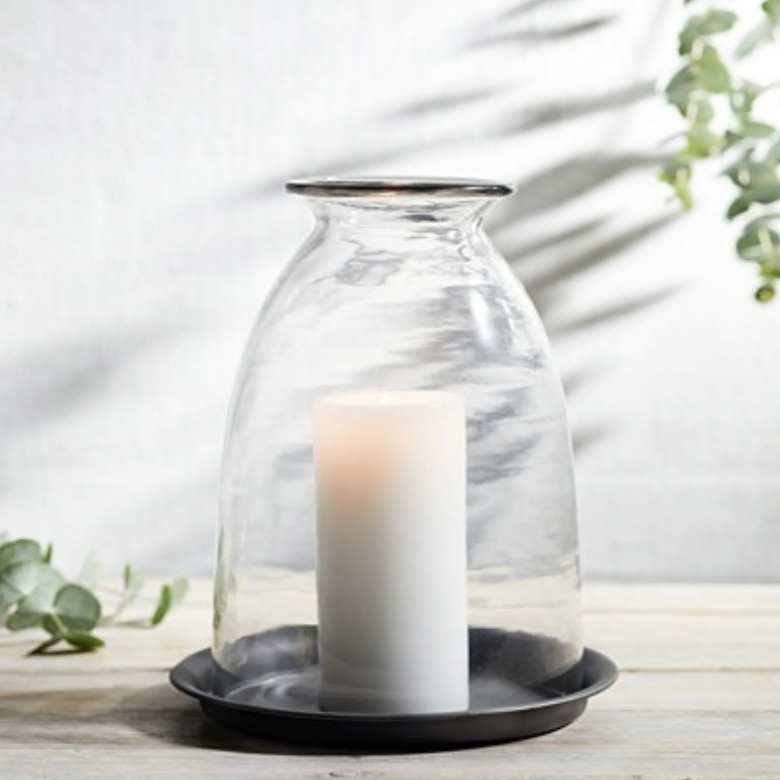 Candle holder, £40, The White Company