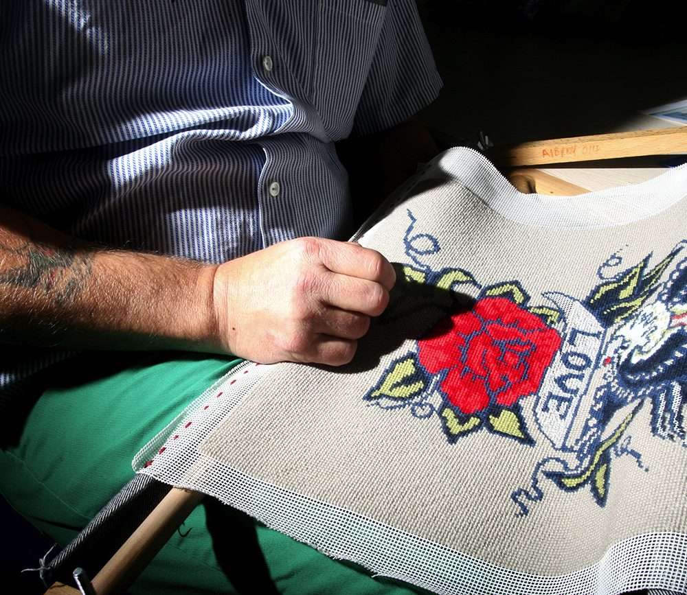 The social enterprise working with prisoners to create finely embroidered textiles