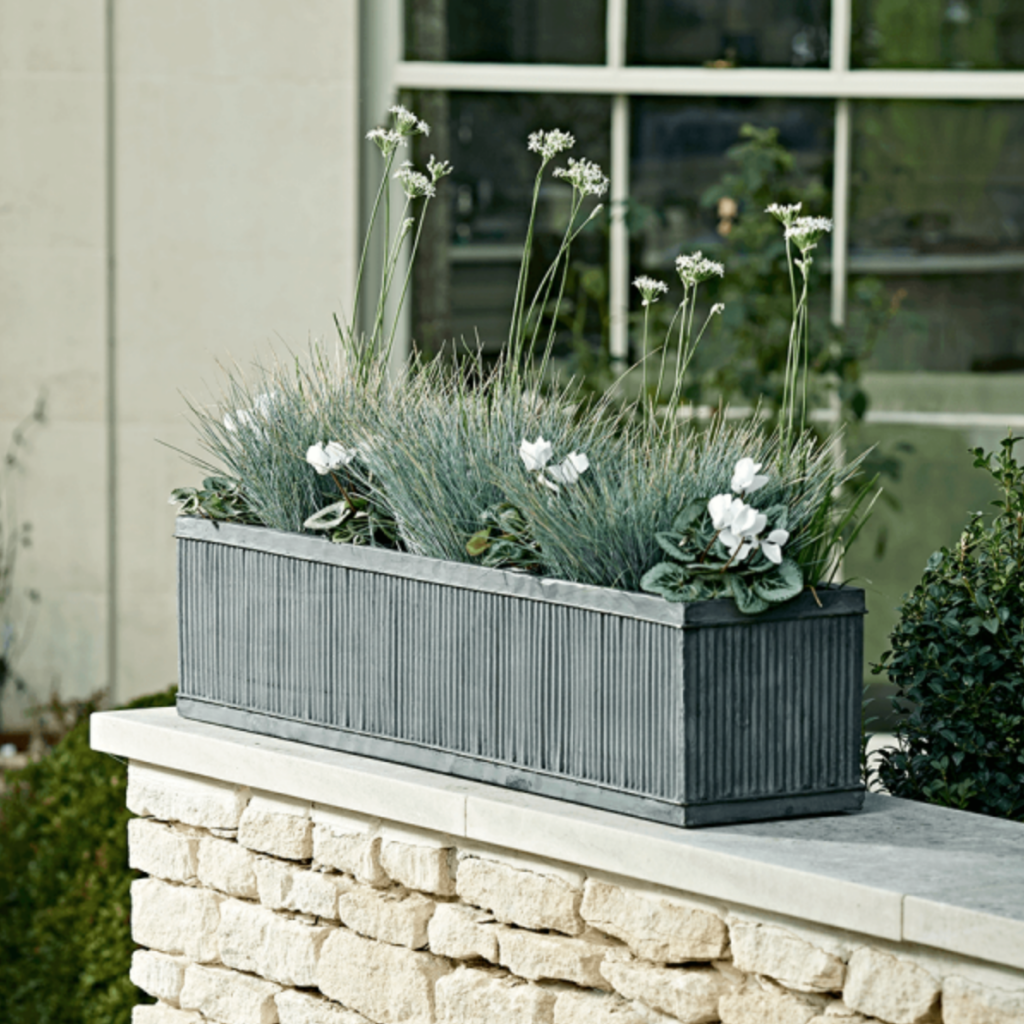 Fluted troughs, From £45, Cox & Cox