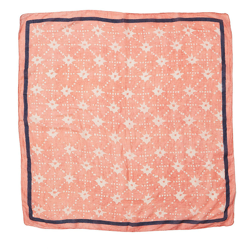 Peachy star scarf, £55, Molly Mahon