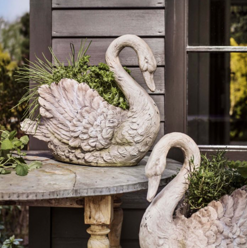 Swan planter, £59.95, Graham and Green