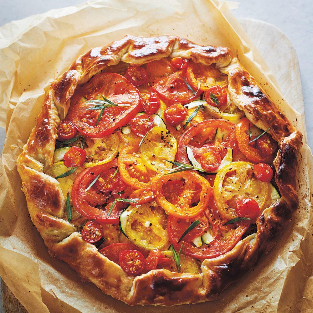 Claire Thomson's Tomato, Courgette & Tarragon Galette