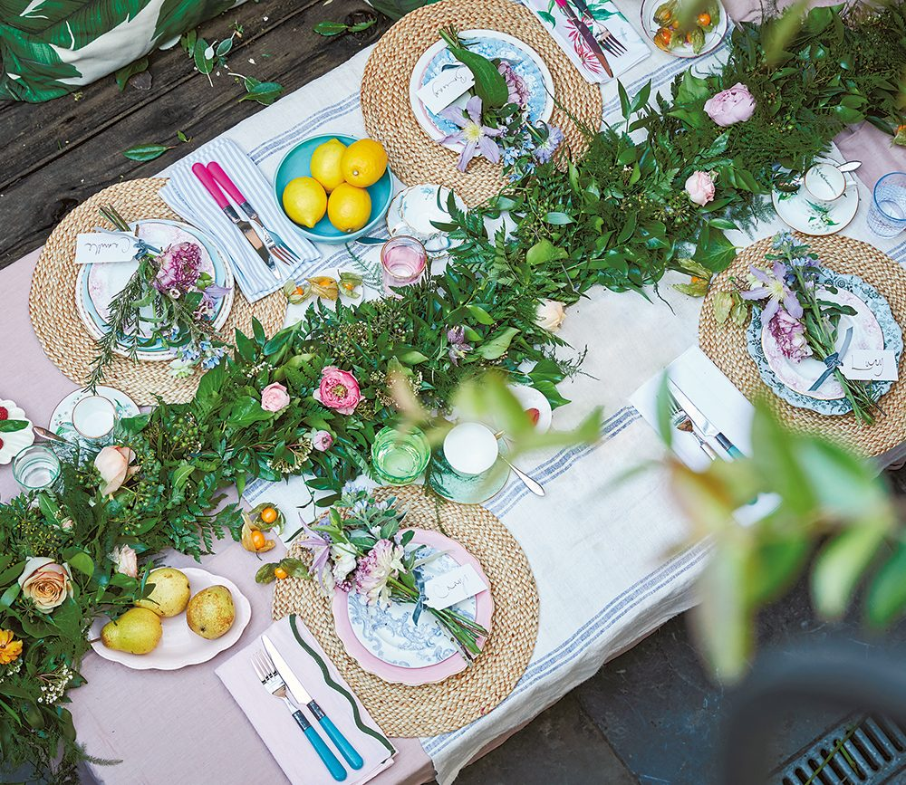 Spring entertaining: Rowan Blossom's Table Garland