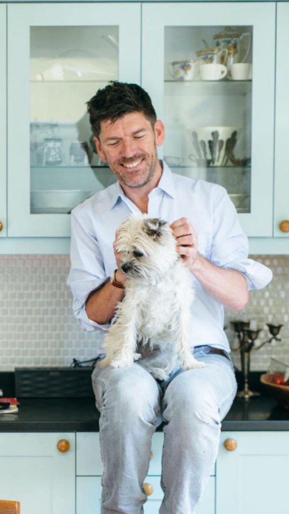 Russell Norman with dog