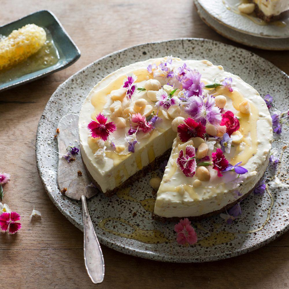 The Farm's Honey and Macadamia Cheesecake