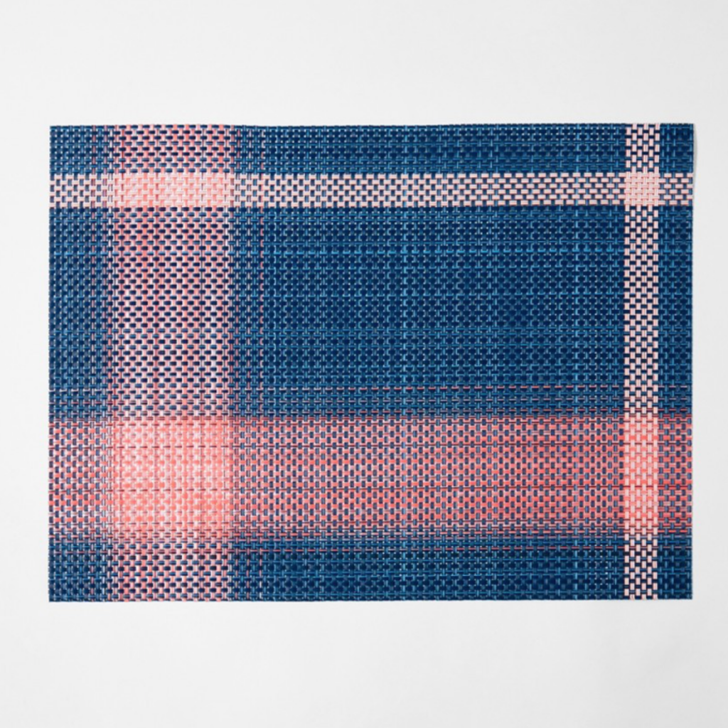 Beam placemat in navy and lobster, £24, The Conran Shop
