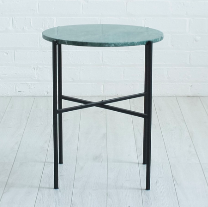 Green Marble Side Table, £120, Ceraudo