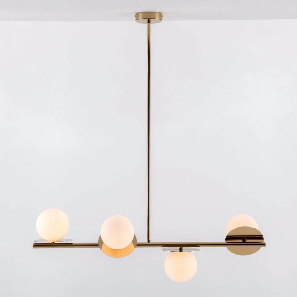 Opal Disc ceiling light in brass, £160, Houseof