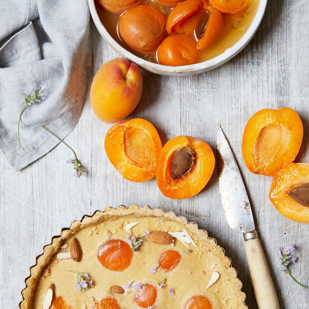 Rosie Birkett's Apricot, Buttermilk and Hazelnut Tart