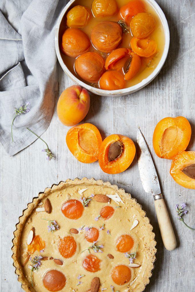 Rosie Birkett Apricot Buttermilk Tart (c) Helen Cathcart