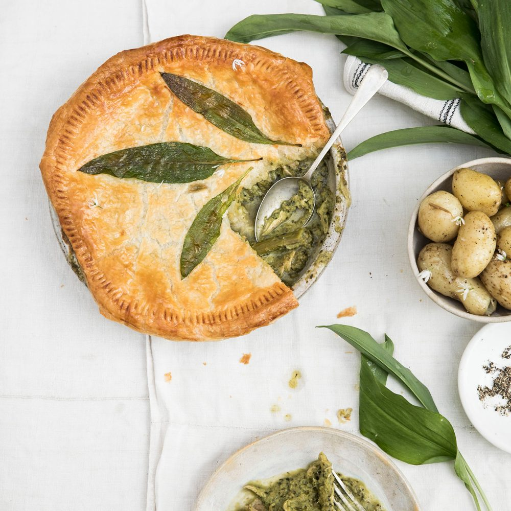 Rosie Birkett's Spring Chicken and Wild Garlic Puff Pie
