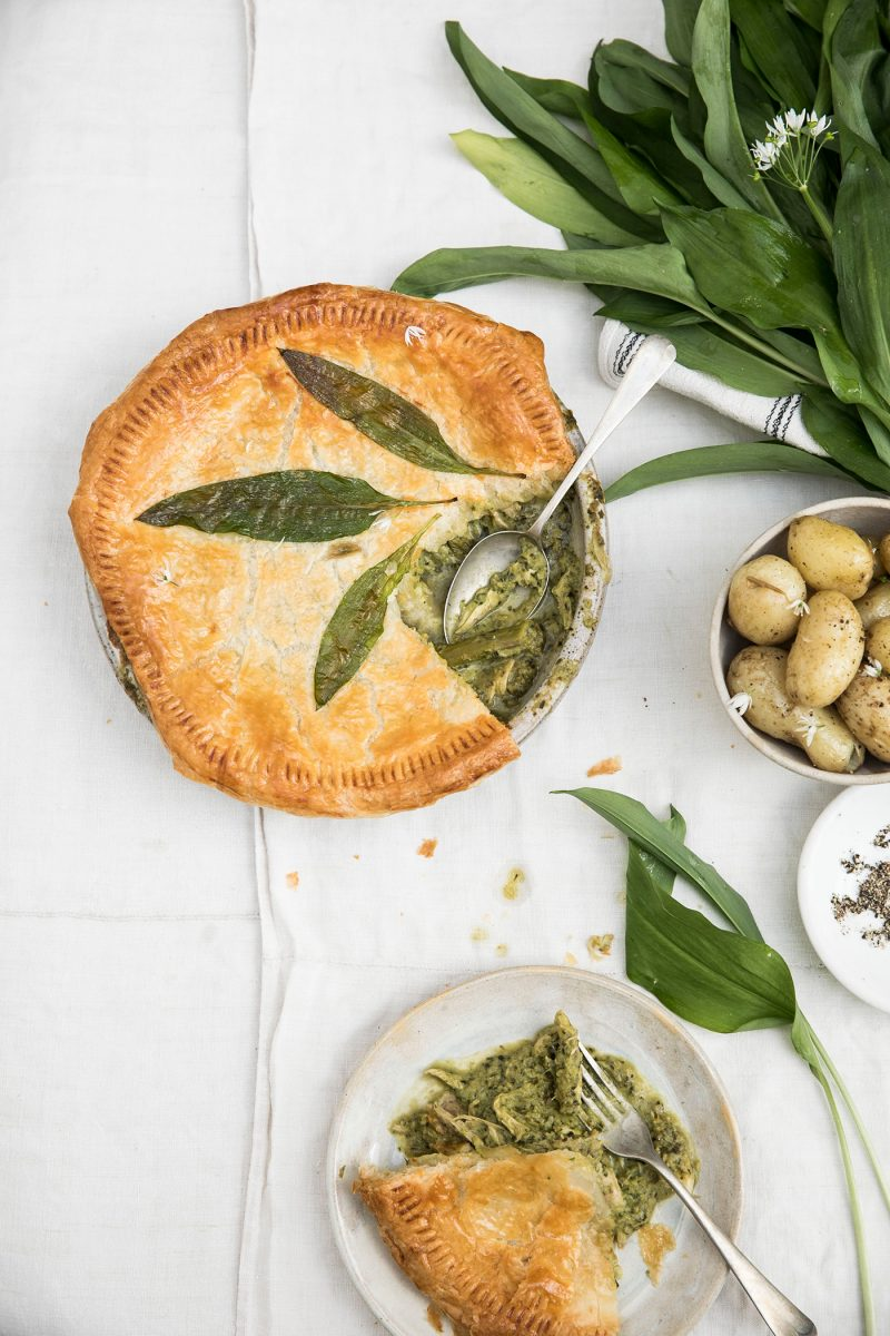 Rosie Birkett Chicken & Wild Garlic Pie (c) Helen Cathcart