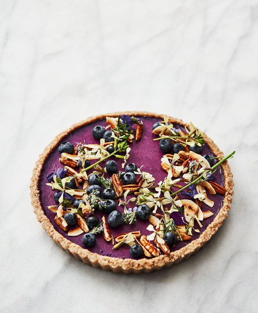 Raw Blueberry Flan © Rochelle Eagle