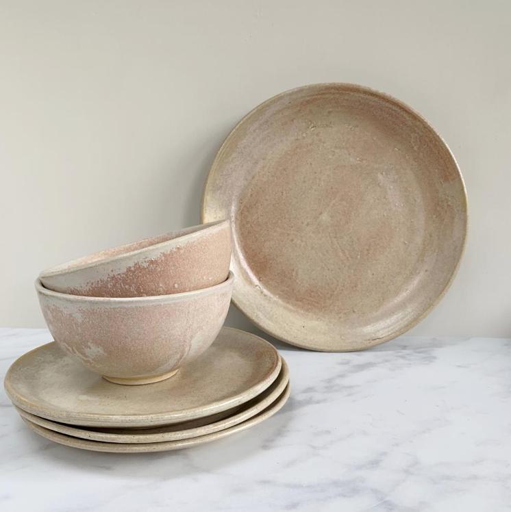 Blush Glaze Dinnerware, from £12, Aerende