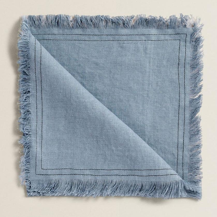 Frayed Linen Napkins, £19.99 for 4, Zara Home