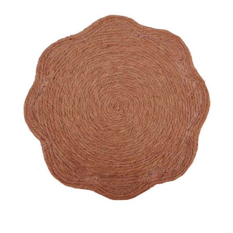 Jute Weave Placemat in Clay, £9.95, Birdie Fortescue