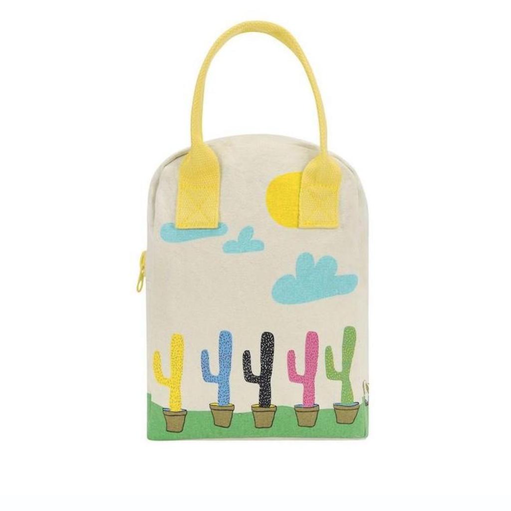 Organic cotton zipper lunch bag, £26, Kick Plastic