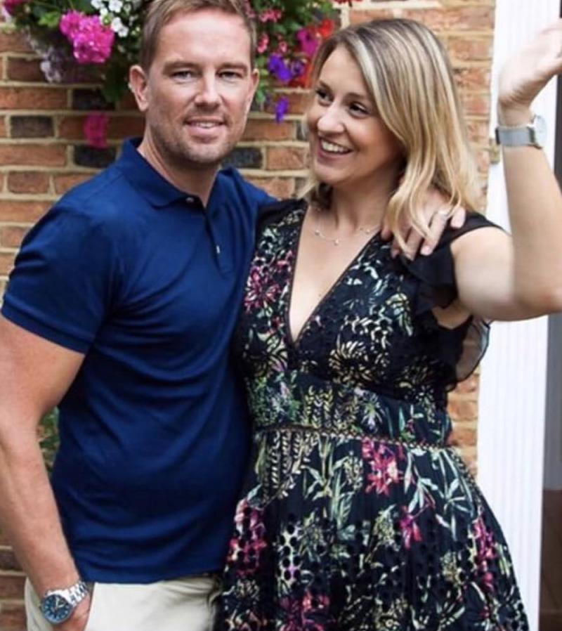 Simon Thomas, with Gemma, house exterior