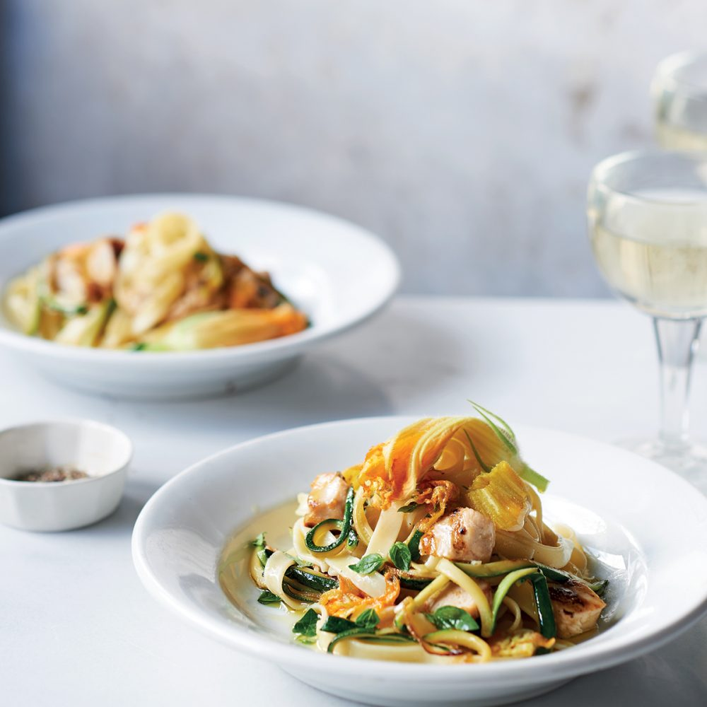 Ursula Ferrigno's Tagliatelle with Courgette Flowers and Chicken