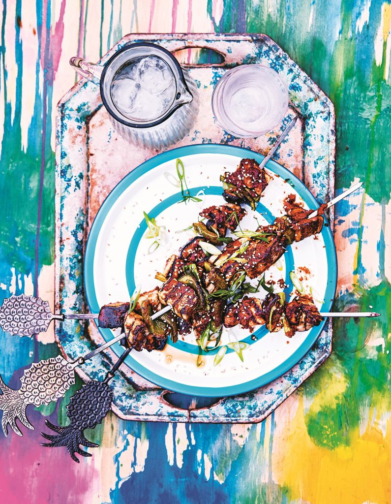 Fresh Veggie BBQ Miso-Glazed Skewers © Haarala Hamilton