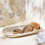 Whitewashed Rattan Oval Bread Basket, £18, The White Company