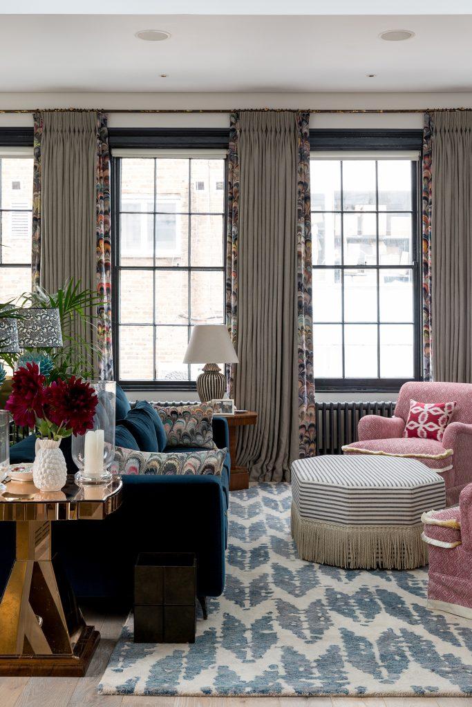 Barlow & Barlow blue sitting room
