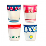 Klevering Assorted bamboo Cups, Royal Academy