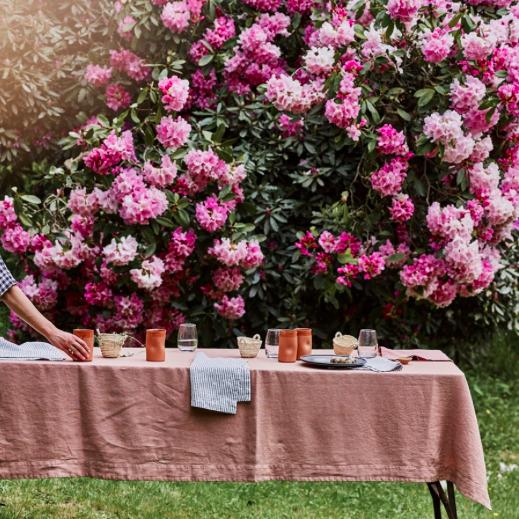 Rowen & Wren Plaster Pink Linen Tablecloth