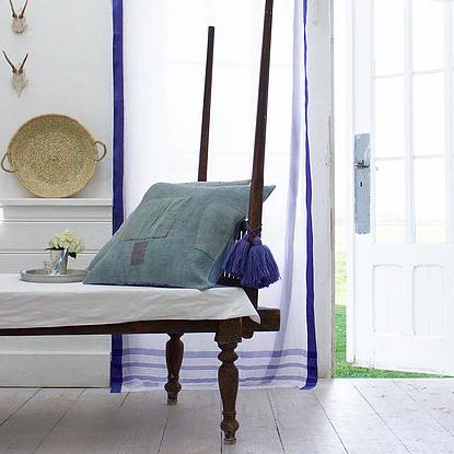 Pale & Interesting Sari Curtain