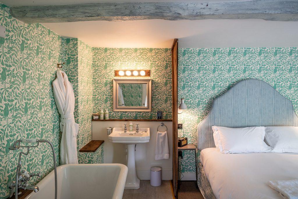 Georgie Pearman-The-Swan-green-bedroom