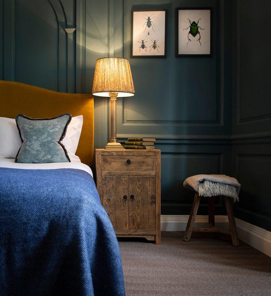 Georgie Pearman-The-Talbot-blue-bedroom