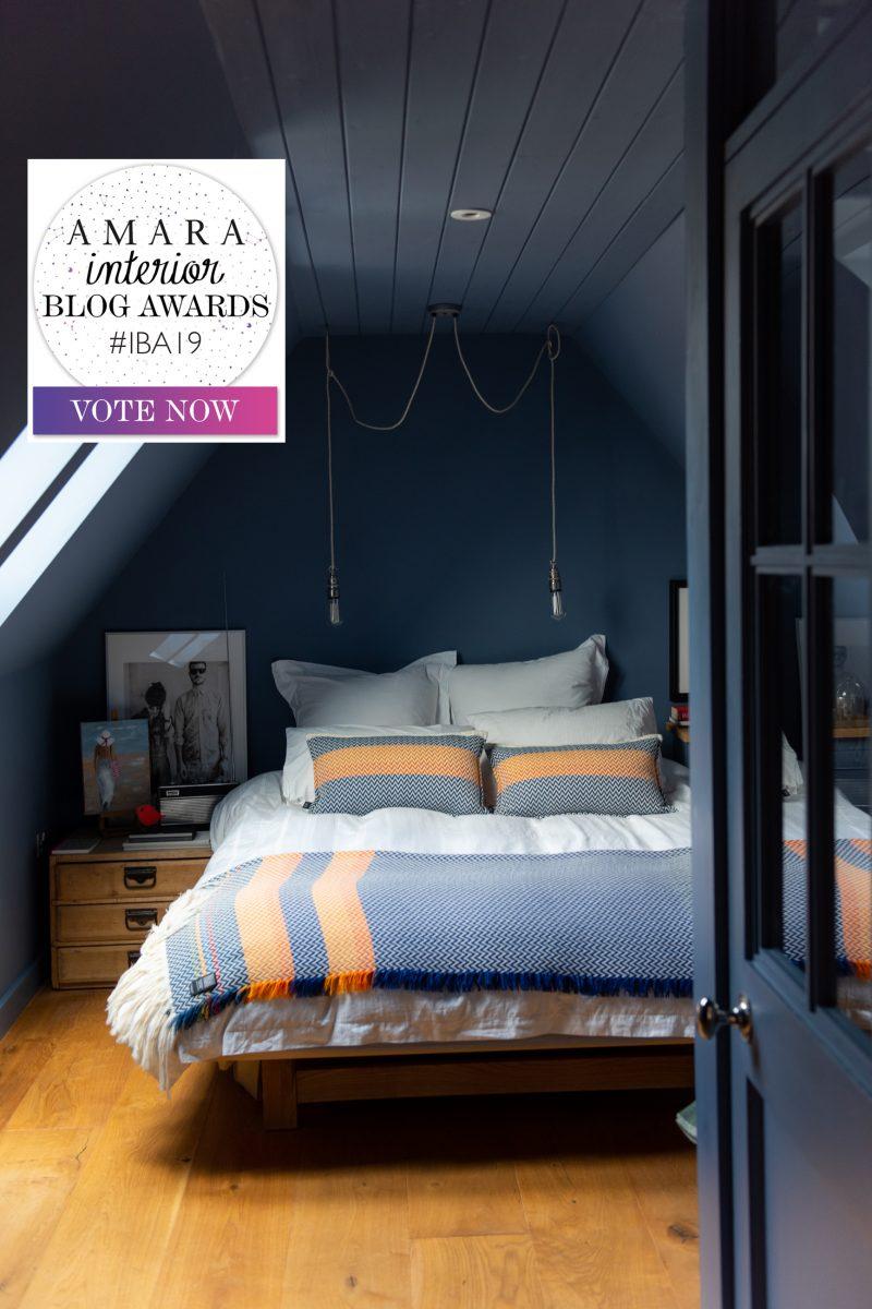 blue-bedroom-with-Amara Interior Blog Award-badge