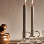 Borosilicate glass candelabra with handle, £7.99, Zara Home