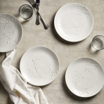 Embossed leaf plate, £45 for four, The White Company