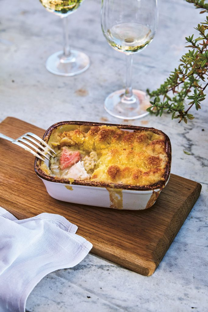 Proper fish pie recipe from Squash soup recipe from Tales and Recipes from the Kitchen Garden and beyond, The Pig book