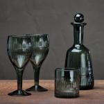 Mila glassware in dark emerald, Nkuku