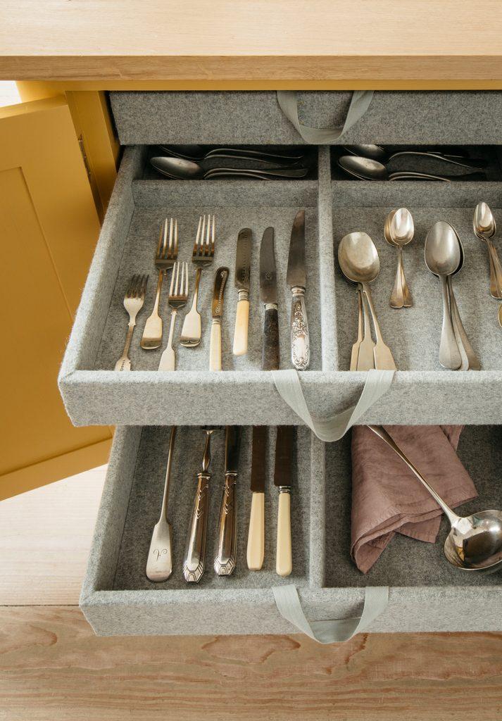 Inside a Plain English kitchen drawer