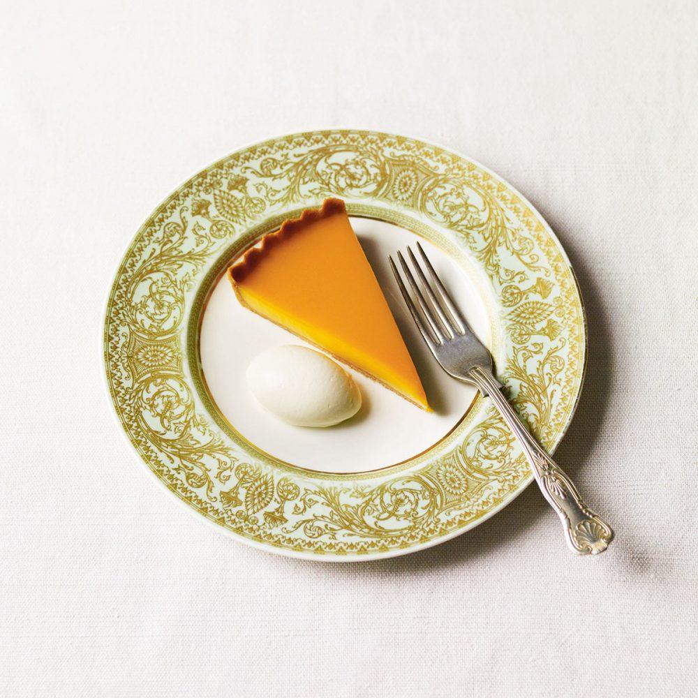 Bell Honey Custard Tart, Ginger Crème Fraîche