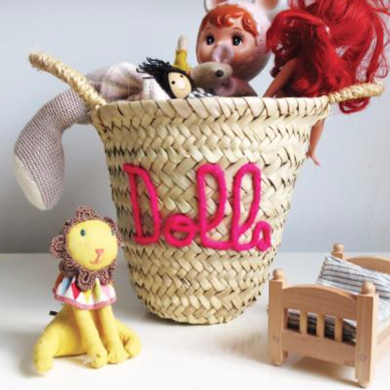 Embriodered mini basket, £20, edit58