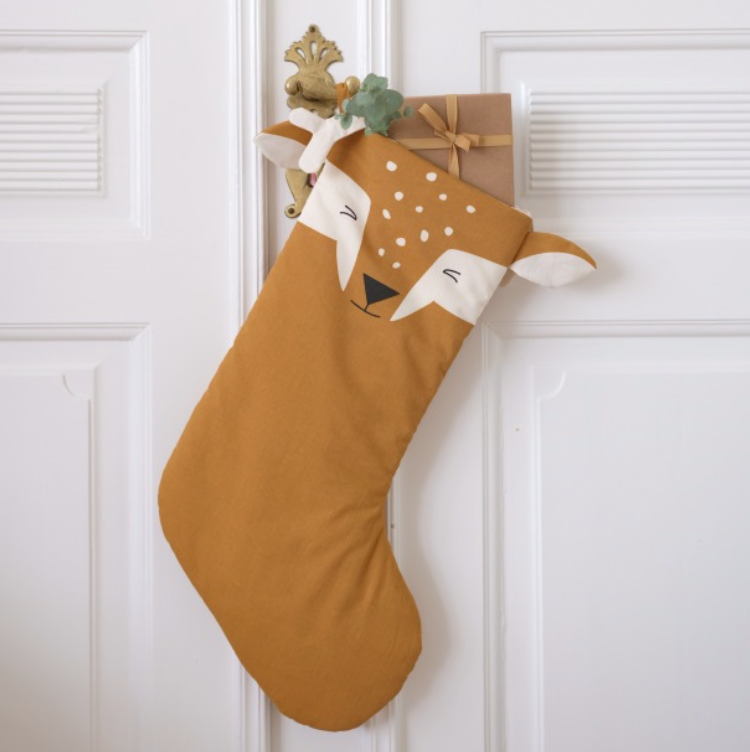 Fabelab Fawn organic cotton Christmas stocking, £30, Smallable