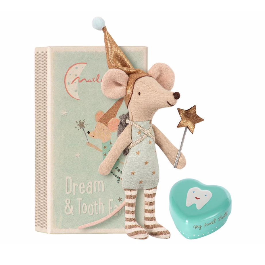 MAILEG Tooth Fairy Mouse with Metal Box, £24.25 Coco and Wolf