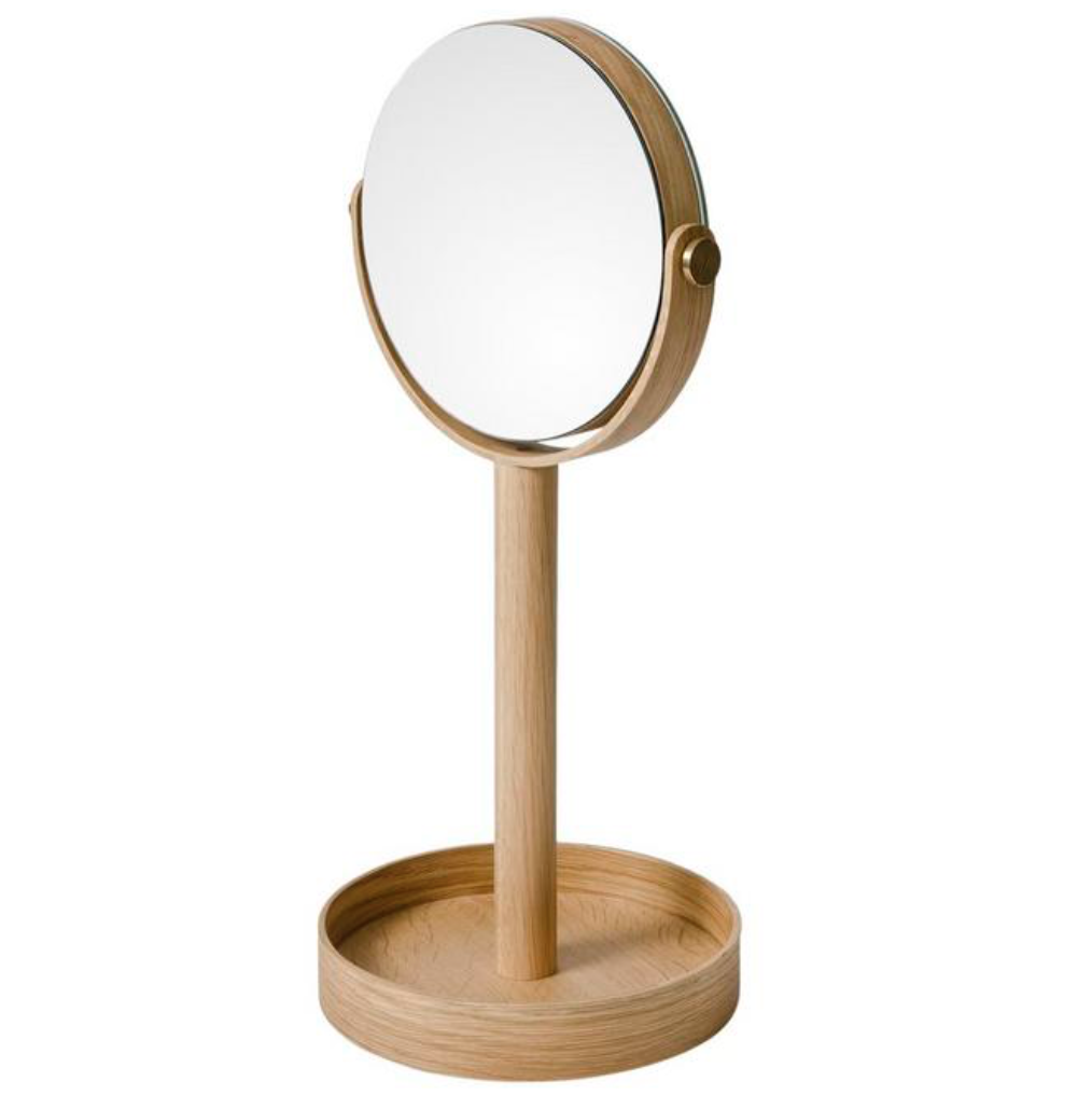 Natural Oak Magnify Mirror by Wireworks, £30, Liberty