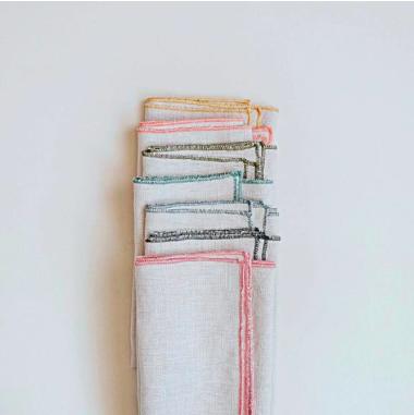 Aerende contrast-edge linen napkin, £12