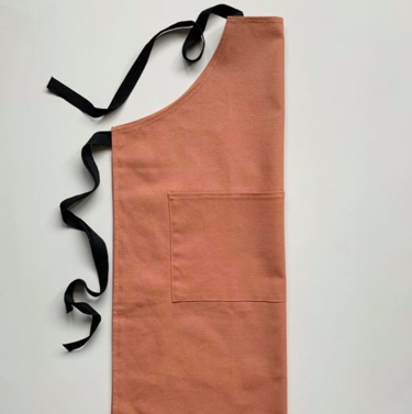 Organic Cotton Apron, Terracotta, £49